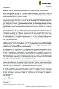 Tamboran Cover letter