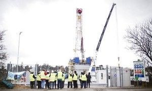 The farcking site in Northern Jutland, Denmark, was suspended 24hrs after drilling began. (image source: thelocal.dk)